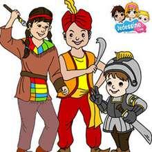 Casse-tête enfants déguisés - Jeux - Casse-têtes chinois en ligne - Casse-têtes chinois Carnaval