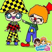 Casse-tête Arlequin et clown - Jeux - Casse-têtes chinois en ligne - Casse-têtes chinois Carnaval