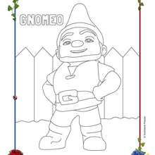 Coloriage GNOMEO - Coloriage - Coloriage DISNEY - Coloriage GNOMEO et JULIETTE