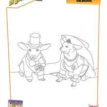 Coloriage Disney : Couple de chiens - Le Chihuahua de Beverly Hills 2