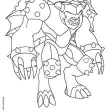 Coloriage INCUBION - Coloriage - Coloriage GORMITI - L'ERE DE L'ECLIPSE SUPREME - Coloriage SEIGNEUR DU VOLCAN - SERIE 2