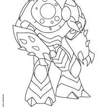 Coloriage ONERION - Coloriage - Coloriage GORMITI - L'ERE DE L'ECLIPSE SUPREME - Coloriage SEIGNEUR DU VOLCAN - SERIE 2