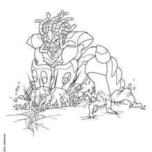 Seigneur de la Forêt à dessiner - Coloriage - Coloriage GORMITI - L'ERE DE L'ECLIPSE SUPREME - Coloriage SEIGNEUR DE LA FORET - SERIE 2