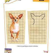 Quadrillage : Dessiner le CHIHUAHUA de BEVERLY HILLS