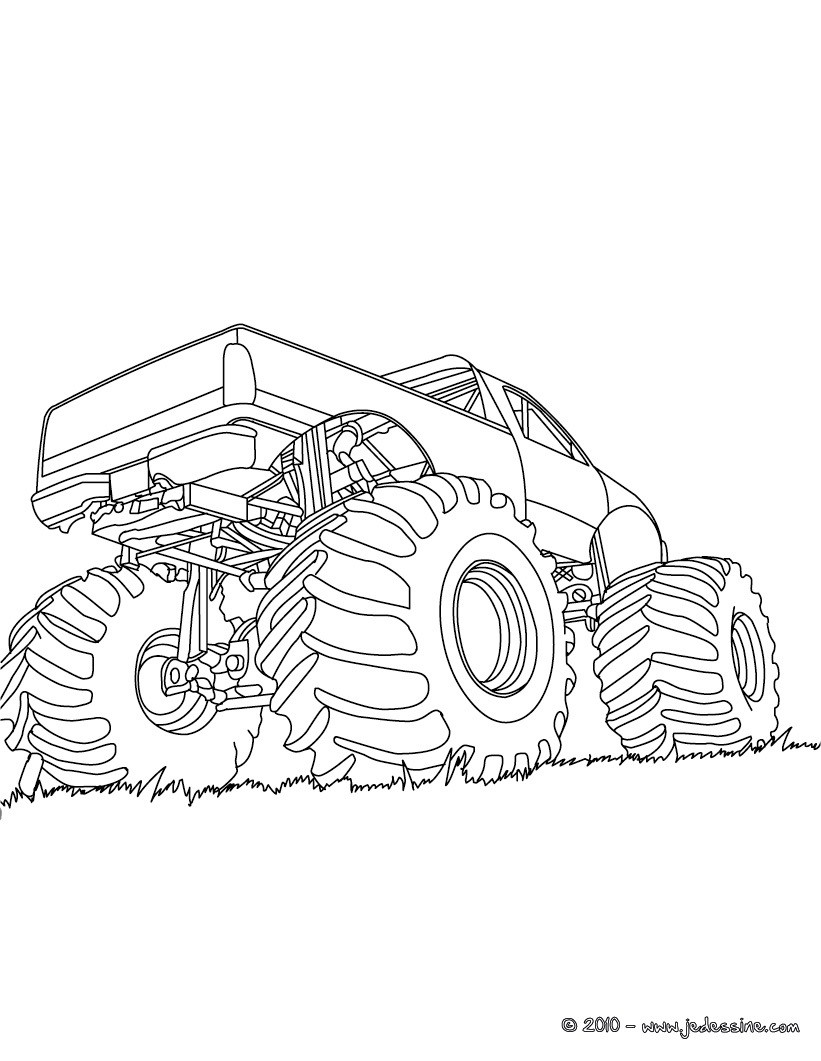 Coloriages grand truck am ricain colorier - Coloriage grand ...