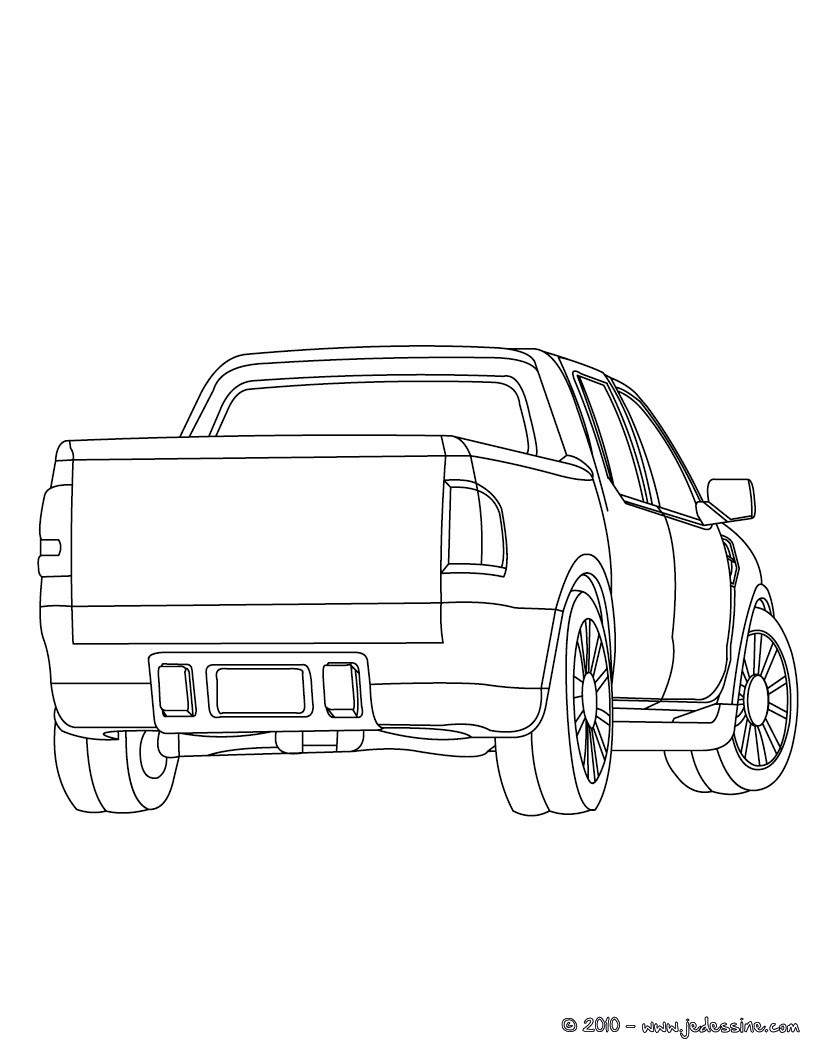 Coloriage Camion Remorque.Coloriages Pick Up Remorque A Colorier Fr Hellokids Com