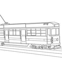 Coloriage tramway à imprimer - Coloriage - Coloriage VEHICULES - Coloriage TRAMWAY