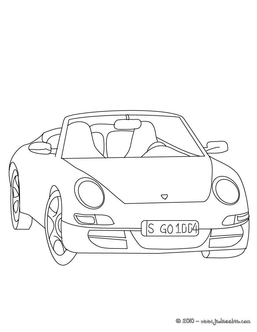 Coloriages porsche carrera colorier - Voiture de sport a colorier ...