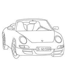 Porsche Carrera à colorier