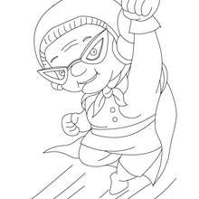 Super Mamie  colorier - Coloriage - Coloriage FETES - Coloriage FETE DES GRANDS MERES