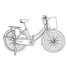 Vélos de ville à colorier - Coloriage - Coloriage VEHICULES - Coloriage VELOS - Coloriage VELOS VILLE
