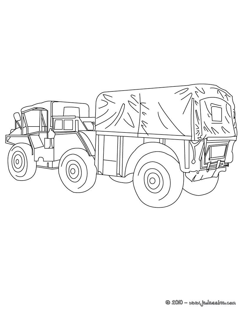 Coloriages camion de livraison agricole colorier fr - Coloriage camion ...