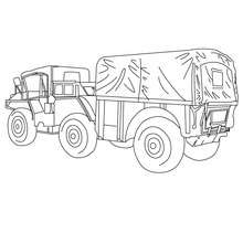 Camion de livraison agricole  colorier - Coloriage - Coloriage VEHICULES - Coloriage CAMION - Coloriage CAMION DE LIVRAISON