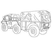 Camion de livraison agricole à colorier - Coloriage - Coloriage VEHICULES - Coloriage CAMION - Coloriage CAMION DE LIVRAISON
