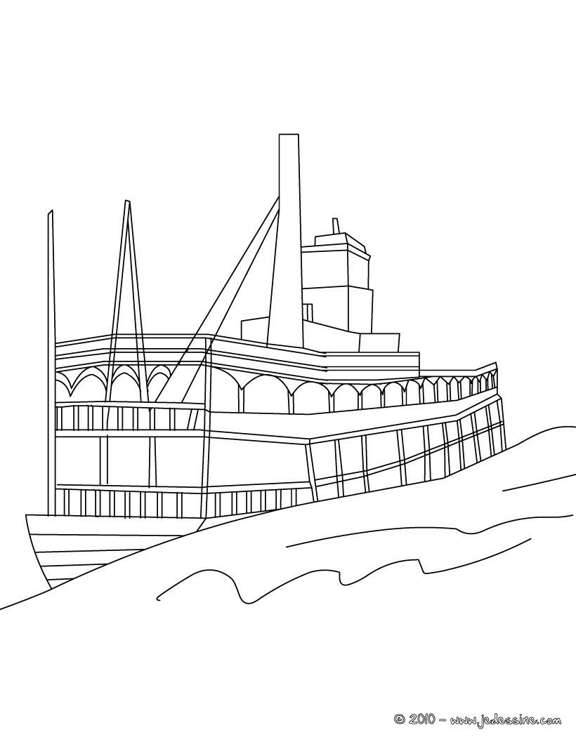 Coloriages bateau vapeur imprimer - Coloriage bateau ...