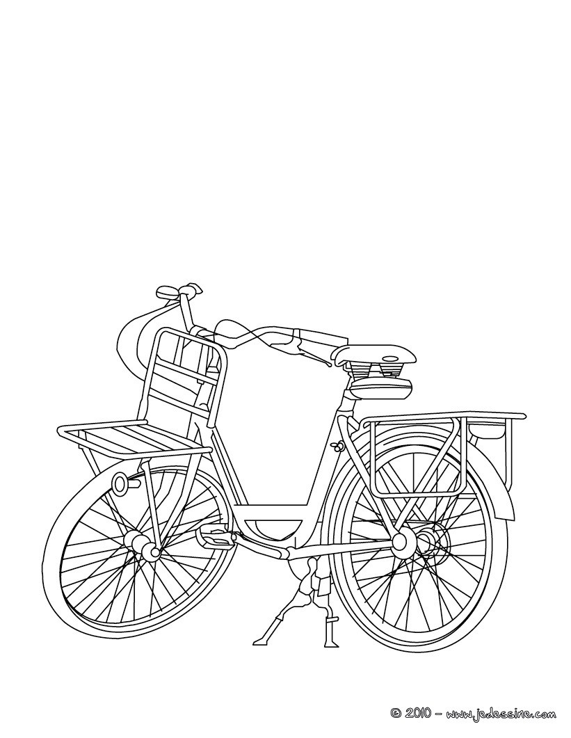 Coloriages coloriage bicyclette gratiut - Bicyclette dessin ...