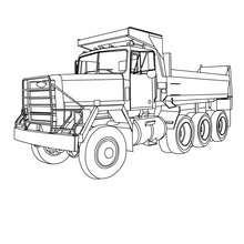 Camion Truck coloriage gratuit - Coloriage - Coloriage VEHICULES - Coloriage CAMION - Coloriage CAMION A IMPRIMER