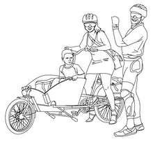 Coloriage vélo de transport - Coloriage - Coloriage VEHICULES - Coloriage VELOS - Coloriage VELOS SPECIAUX