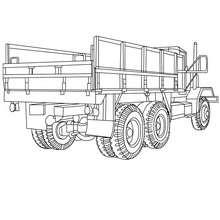 Coloriage : Grand camion benne à Colorier