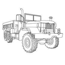 Coloriage camion Truck - Coloriage - Coloriage VEHICULES - Coloriage CAMION - Coloriage CAMION A IMPRIMER
