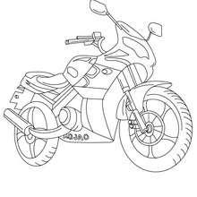 Coloriage moto routière à imprimer
