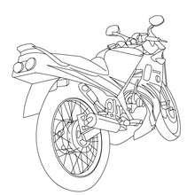 Coloriage arrière moto routière gratuit