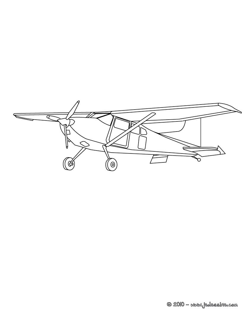 Coloriages coloriage petit avion gratuit - Coloriage de avion ...