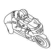 Coloriage moto de course à imprimer - Coloriage - Coloriage VEHICULES - Coloriage MOTOS - Coloriage MOTOS DE COURSE