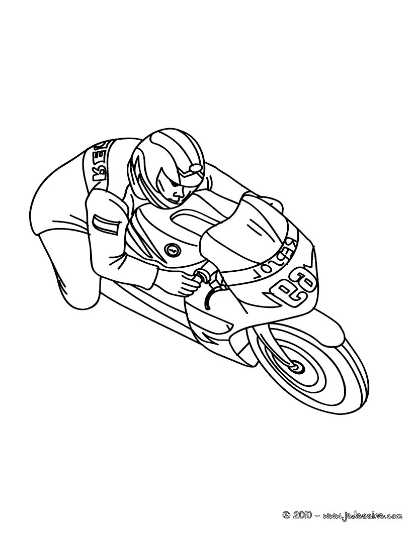 Coloriages coloriage moto de course imprimer fr - Moto cross dessin ...