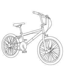 Vélo bicross à colorier - Coloriage - Coloriage VEHICULES - Coloriage VELOS - Coloriage VELOS BICROSS