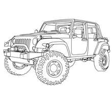 Pick up américain à colorier - Coloriage - Coloriage VEHICULES - Coloriage CAMION - Coloriage PICK UP