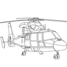 Coloriage grand hélicoptère gratuit - Coloriage - Coloriage VEHICULES - Coloriage HELICOPTERE