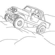 Pick up tout terrain à colorier - Coloriage - Coloriage VEHICULES - Coloriage CAMION - Coloriage PICK UP