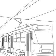 Coloriage tramway gratuit - Coloriage - Coloriage VEHICULES - Coloriage TRAMWAY