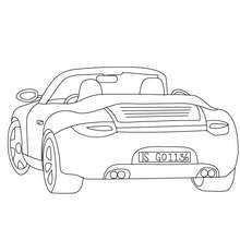 Arrière Porsche Carrera à colorier - Coloriage - Coloriage VEHICULES - Coloriage VOITURE - Coloriage VOITURE DE SPORT
