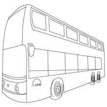 Bus londonien à colorier - Coloriage - Coloriage VEHICULES - Coloriage BUS