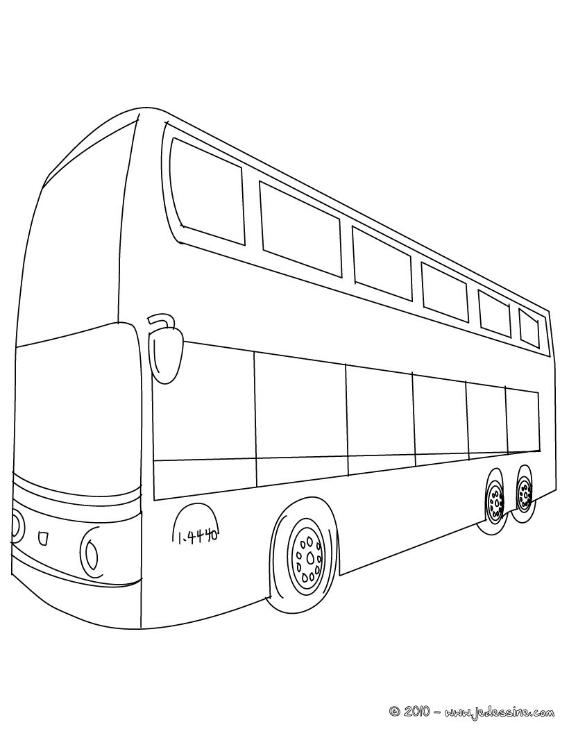 Coloriage : Bus londonien à colorier