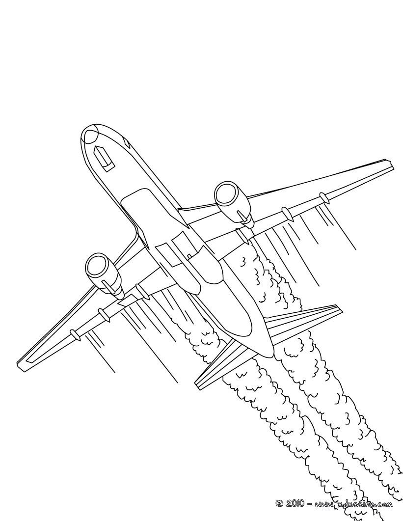 Coloriages d coller avion long courrier colorier - Dessin d avion facile ...