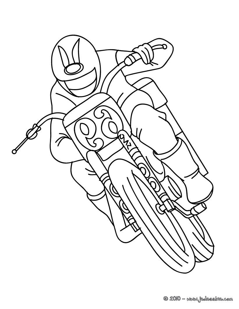 Coloriages De Motos Coloriages Coloriage à Imprimer