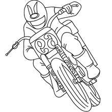 Coloriage moto de course gratuit - Coloriage - Coloriage VEHICULES - Coloriage MOTOS - Coloriage MOTOS DE COURSE