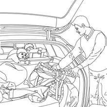 Chargement coffre de voiture à colorier - Coloriage - Coloriage VEHICULES - Coloriage VOITURE - Coloriages VOITURES