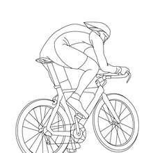 Coloriage cycliste sur VTT gratuit - Coloriage - Coloriage VEHICULES - Coloriage VELOS - Coloriage VELOS VTT