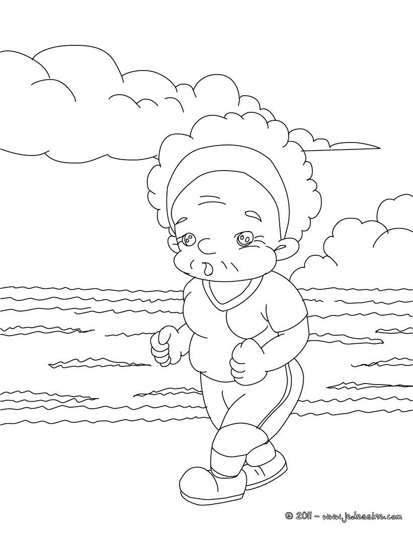 Coloriages grand m re jogging colorier - Grand dessin a colorier ...