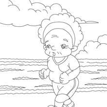 Grand-mre jogging  colorier - Coloriage - Coloriage FETES - Coloriage FETE DES GRANDS MERES