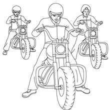 3 Motos cruiser à colorier - Coloriage - Coloriage VEHICULES - Coloriage MOTOS - Coloriage MOTOS CRUISER