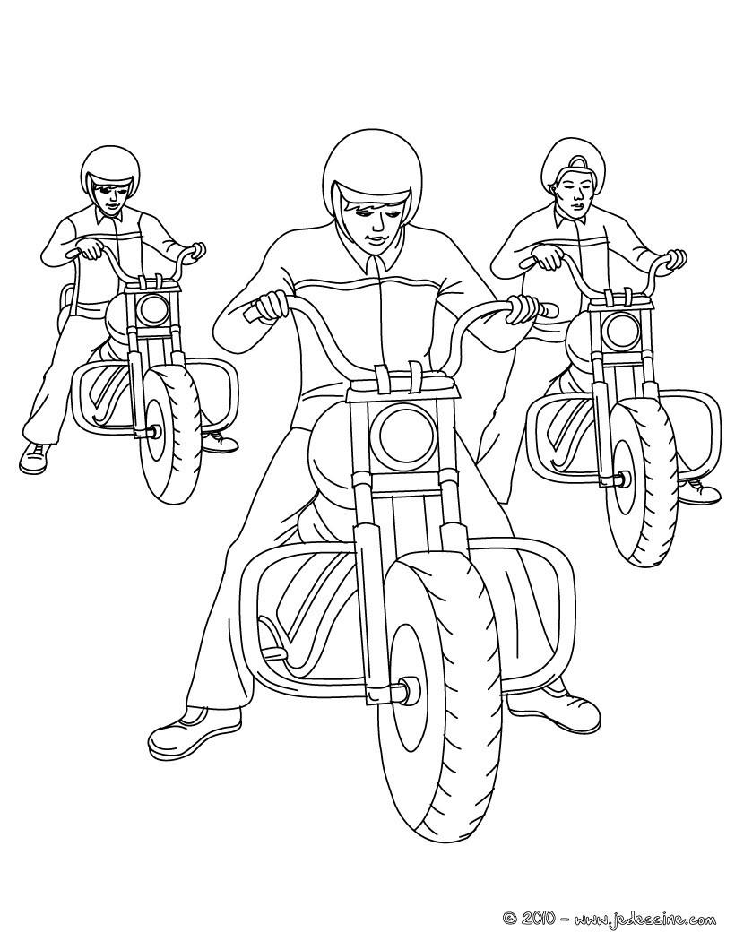 3 motos cruiser colorier coloriage coloriage vehicules coloriage motos coloriage motos
