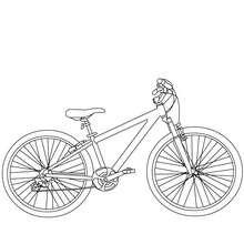 Profil de Vélo bicross à colorier - Coloriage - Coloriage VEHICULES - Coloriage VELOS - Coloriage VELOS BICROSS