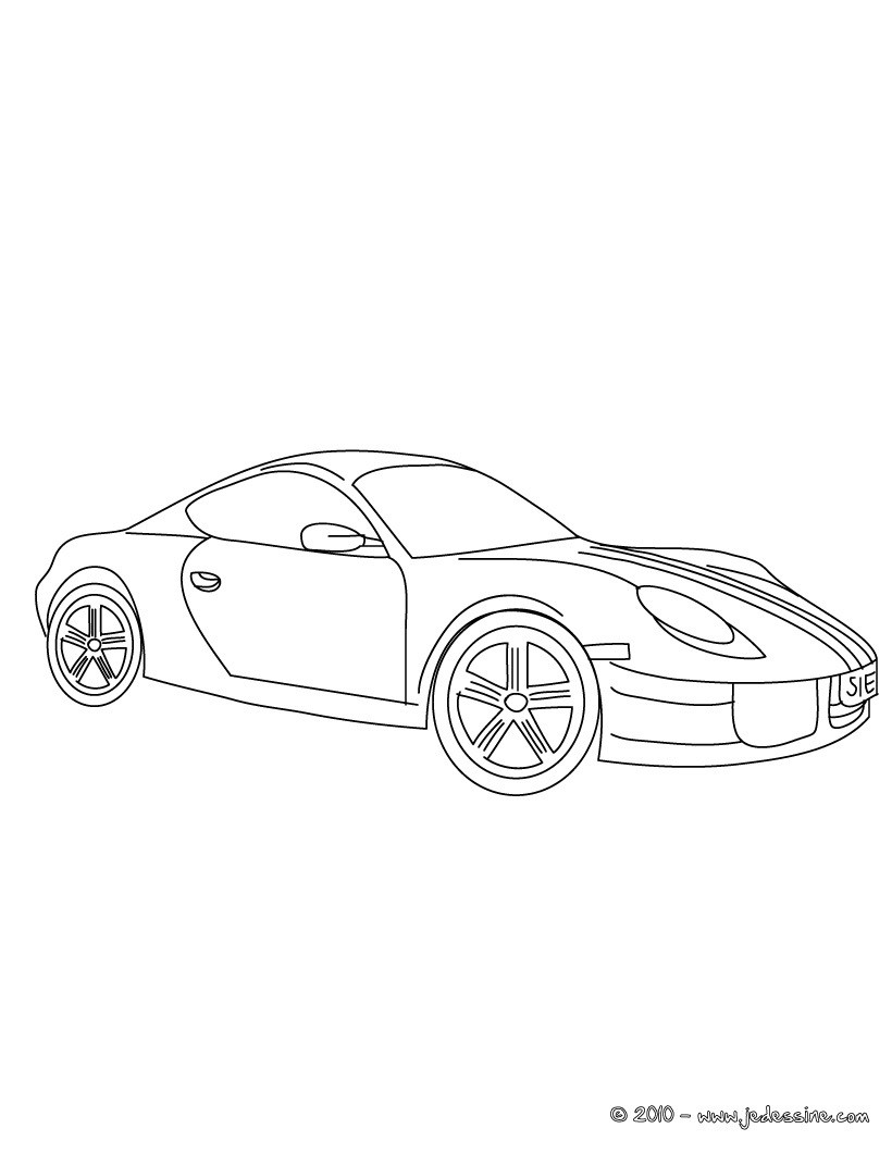 Coloriages porsche cayman for Plans de dessins de porche