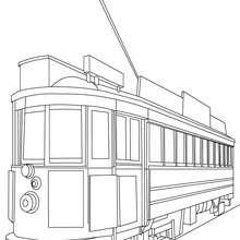 Coloriage rame de tramway à imprimer - Coloriage - Coloriage VEHICULES - Coloriage TRAMWAY
