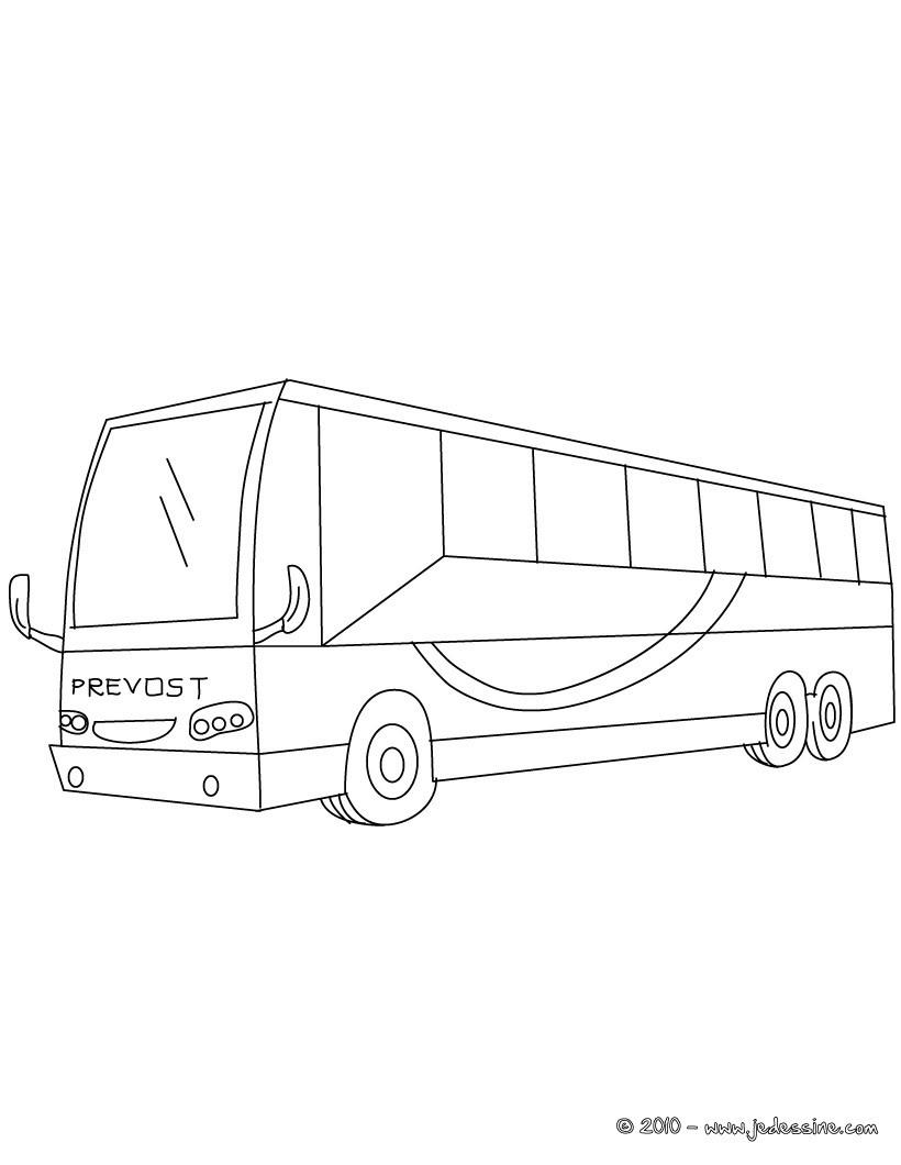 Coloriages grand bus colorier - Dessiner un bus ...